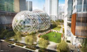 Amazon 'chơi trội' xây trụ sở hình trònbằng kính