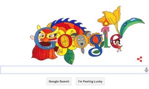 Bé 8 tuổi giành giải nhất cuộc thi vẽ Doodle của Google