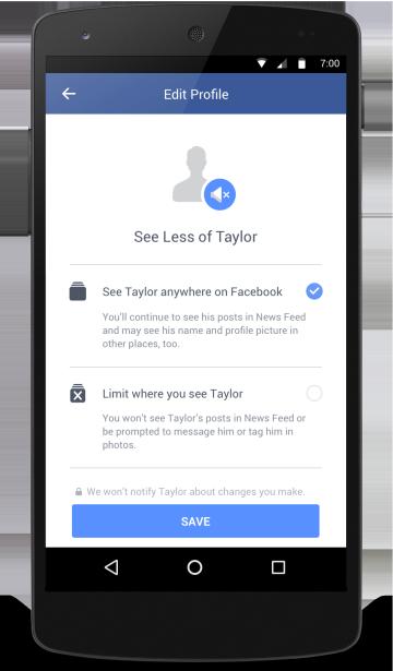 Nó giúp hạn chế việc thấy được các thông tin, hình ảnh hay video từ người cũ mà không cần phải chấm dứt quan hệ bạn bè trên Facebook như thông thường.