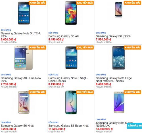 """Thị trường smartphone """"xách tay"""" đã qua sử dụng ở Việt Nam rất nhộn nhịp, không thiếu những model dạng siêu phẩm vừa ra đầu năm."""
