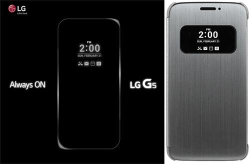 Tính năng màn hình phụ luôn hiển thị và phụ kiện đi kèm với mẫu G5 mới của LG.