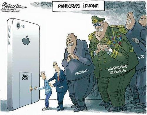 """Việc mở cổng hậu trên iPhone được ví như việc mởhộp Padora.Theo truyền thuyết, đó là một chiếc hộp mà Zeus đã tặng cho nàng Pandora - người phụ nữ đầu tiên đến thế giới loài người. Nàng Pandora đã được Zeus dặn kĩ rằng không được mở chiếc hộp đó ra. Nhưng với sự tò mò của mình, Pandora đã mở chiếc hộp ra và tất cả những gì trong chiếc hộp kì bí đó đã khiến cho tất cả những điều bất hạnh tràn ngập khắp thế gian: thiên tai, bệnh tật, chiến tranh& và chiếc hộp chỉ còn sót lại một chút """"hy vọng"""" mang tên Pandora cho loài người để có thể tiếp tục sống."""