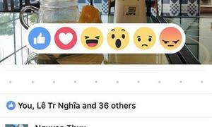 Facebook thêm 5 biểu tượng mới ngoài nút Like