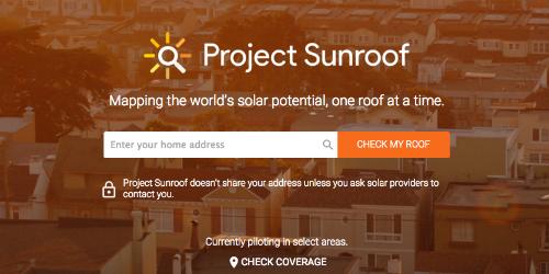 Project Sunroof là nơi duy nhất mà bạn tìm kiếm mọi thứ về năng lượng mặt trời, cách hoạt động, cách lắp đặt như thế nào và bạn sẽ liên hệ với những nơi nào để lắp đặt hoặc mua các thiết bị cần thiết.