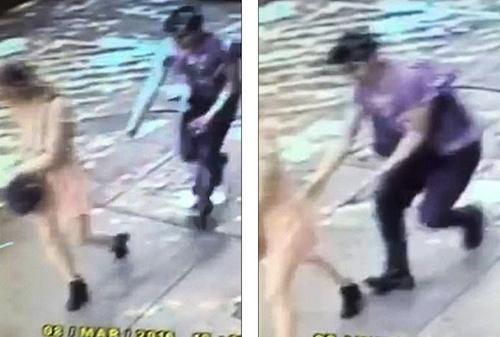 Nữ nhà báo bị kéo váy trên phố vắng