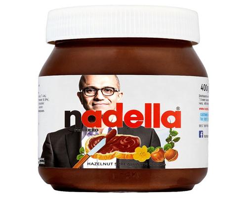 Một số người đùa rằng có thể Google sẽ cố tình đọc chệch Nutella thành Nadella (CEO Microsoft Satya Nadella