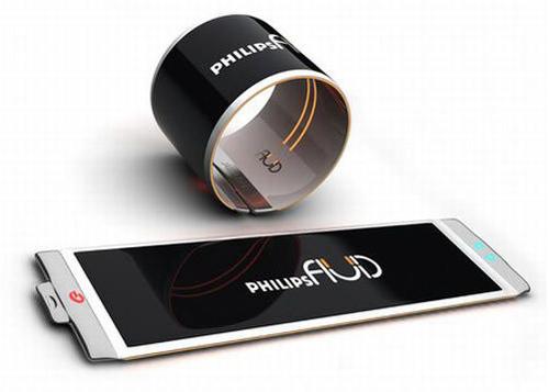 Philips Fluid Smartphone designed by Brazilian designer Dinard da Mata