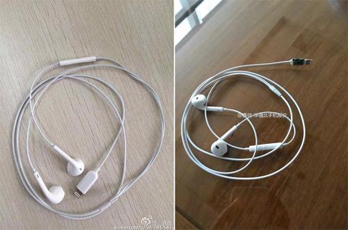 Hình ảnh được cho là tai nghe Apple EarPods sử dụng cổng kết nối Lightning