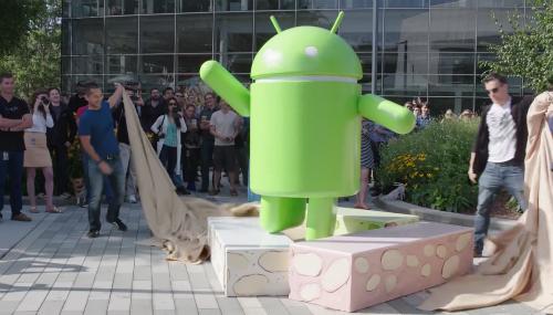 Biểu tượng Android 7.0 Nougat đã xuất hiện ở trụ sở chính của Google.