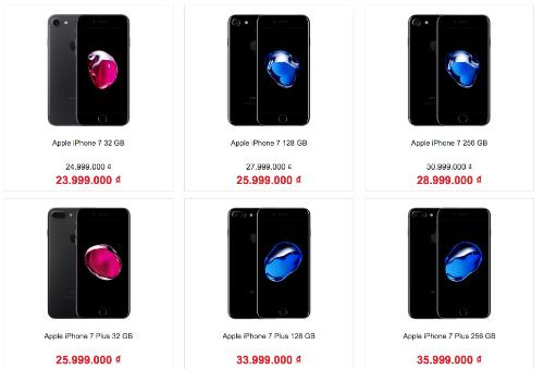 Sau khi hàng về, giá iPhone 7 xách tay đã bắt đầu giảm vài triệu đồng.