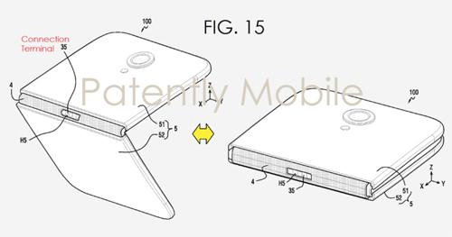 Điện thoại cũng có thể sử dụng bản lề để gập lại thành smartphone 5 inch hay mở ra thành tablet 8 inch.