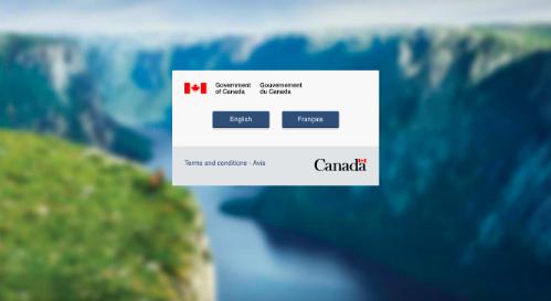Trang web về thông tin nhập cư Canada khi hoạt động bình thường.