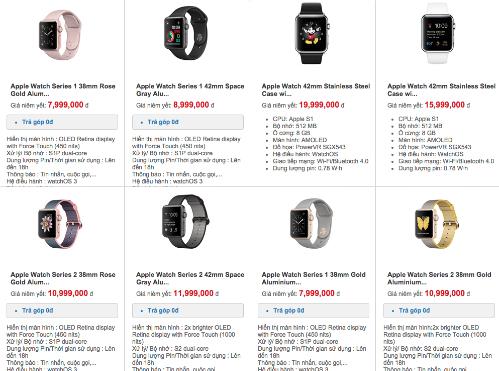 Apple Watch Series 1 và Series 2 có giá chính hãng ở Việt Nam tốt hơn đời đầu.