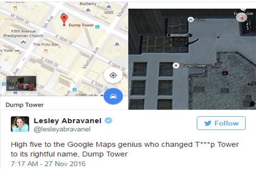 thap-trump-bi-doi-thanh-thap-dump-tren-google-maps