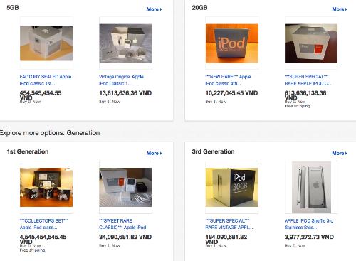 Trên eBay không thiếu những món đồ cổ của Apple được rao bán với giá hàng trăm triệu đồng, dành cho người sưu tầm.