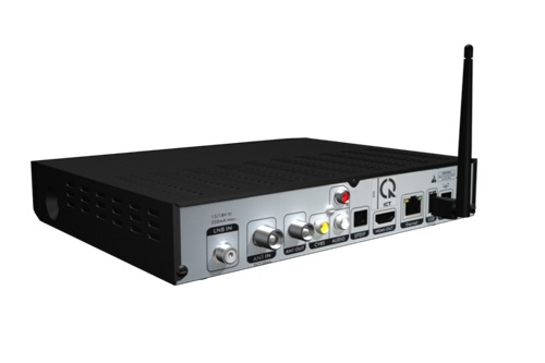 Mặt sau bộ thu VTC Hybrid S1 với các tính năng hiện đại.