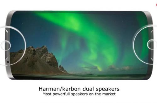 Còn theo nhà thiết kế có biệt danh Concept Creator, Galaxy S8 sẽ tích hợp loa Harman Kardon kép, camera f/1.7 với ống kính đặc biệt. RAM 6 GB.