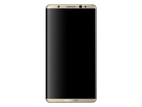 Dựa trên các tin đồn, chuyên gia đồ hoạ Veniamin Geskin cho ra đời concept đẹp mắt về điện thoại này. Thiết bị có màn hình cong tràn hai cạnh, choán gần hết diện tích mặt trước. Phần phía trên và dưới màn hình chỉ chừa một khoảng trống nhỏ đủ để đặt camera trước và logo Samsung. Máy không có nút Home vật lý và cảm biến nhận diện vân tay nằm ở phần logo.