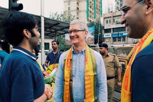 Tim Cook là Giám đốc điều hành đầu tiên của Apple thực hiện chuyến thăm đến Ấn Độ.