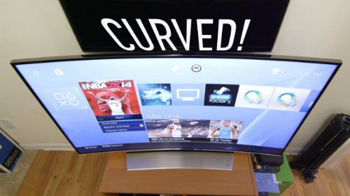 Rất ít TV màn hình cong ra mắt tại triển lãm CES 2017.