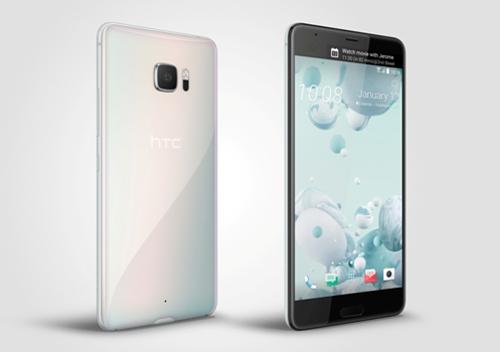 Mẫu HTC U - Ultra màu trắng ngọc trai sang trọng với màn hình 5,7 inch, thiết kế trong suốt độc đáo.