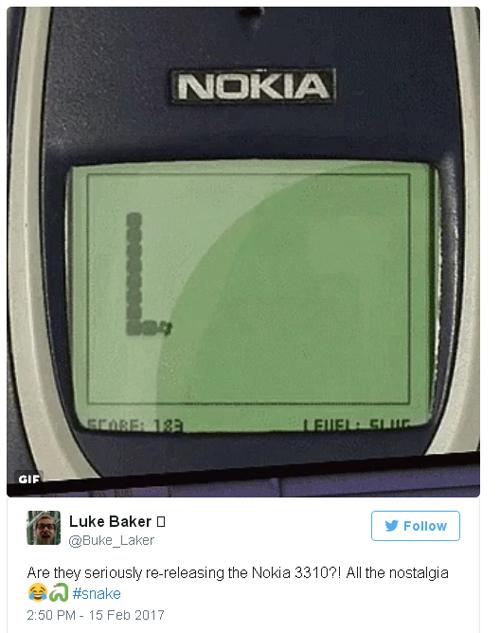 Thông tin về sự hồi sinh của Nokia 3310 khiến người đàn ông này nhớ về những kỷ niệm cũ.