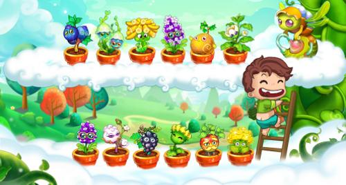 Hình ảnh trong game Khu vườn trên Mây.