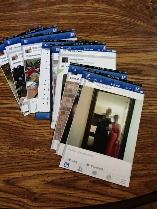 Bà tôi đã in ra một số bức ảnh từ điện thoại của mình.