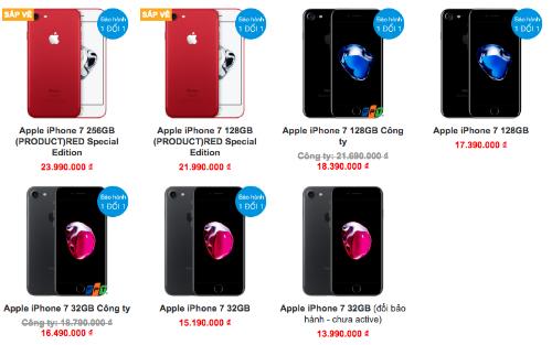 Giá bán màu đỏ cao hơn tới 4 triệu đồng so với các màu khác.