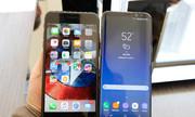 Galaxy S8 Plus so dáng cùng iPhone 7 Plus