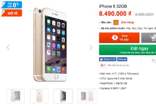 iPhone 6 phiên bản 2017 hạ giá tới cả triệu đồng dù có mặt ở Việt Nam chưa lâu.