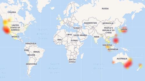 Khu vực gặp sự cố với Twitter tương tự như Facebook.