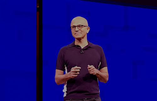 Satya Nadella, Microsoft CEO.