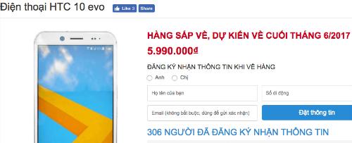 Mẫu smartphone sắp được HTC bán ở Việt Nam gây chú ý nhờ mức giá.