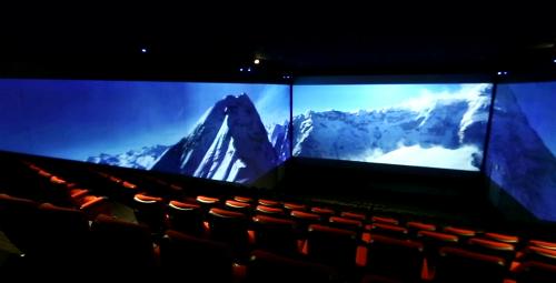 Công nghệ chiếu phim ScreenX đem lại hình ảnh rộng hơn nhiều thông thường.