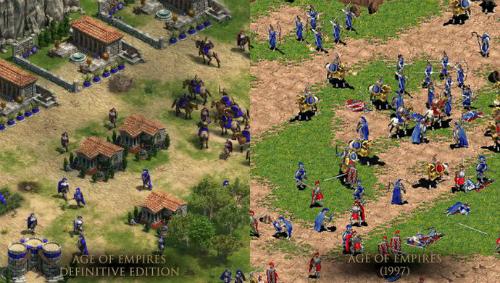 So sánh đồ họa của 2 phiên bản game AOE.