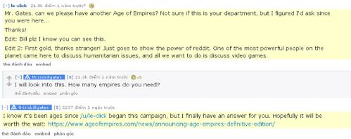 Câu trả lời của Bill Gates sau 1 năm.