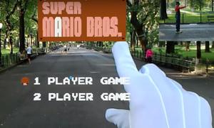 Chơi game Mario theo phong cách thực tế tăng cường