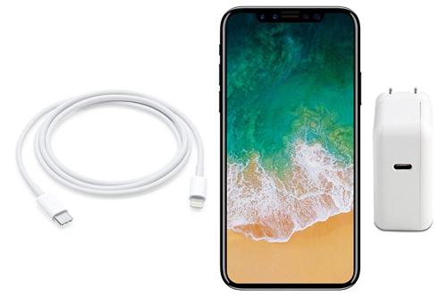 Ý tưởng iPhone màn hình vô cực, sử dụng cáp có một đầu là Lightning, một đầu là USB-C của  Benjamin Geskin.