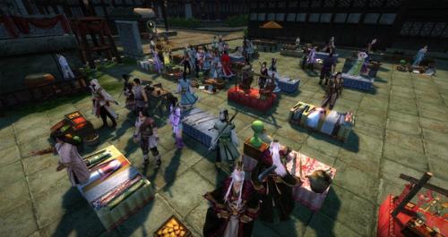 Người chơi game online thường tự xây dựng ra các khu chợ để giao dịch, buôn bán vật phẩm. (Ảnh minh họa)