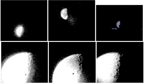 Hình ảnh mặt trăng chụp từ bộ cảm biến CMOS 2-bit.