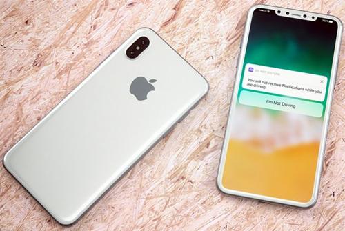 iPhone 8 sẽ có màn hình sát viền, không còn nút Home. Ảnh concept của Martin Hajek.