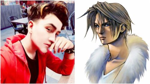 Amirul Rizwan Musa và nhân vật game Squall Leonhart.