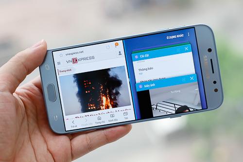 Màn hình FullHD được nâng cấp bằng công nghệ SuperAMOLED và bổ sung tính năng luôn hiển thị Always-On Display như Galaxy S8.