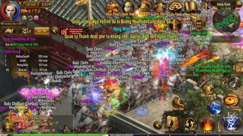Các game thủ tham gia quốc chiến.