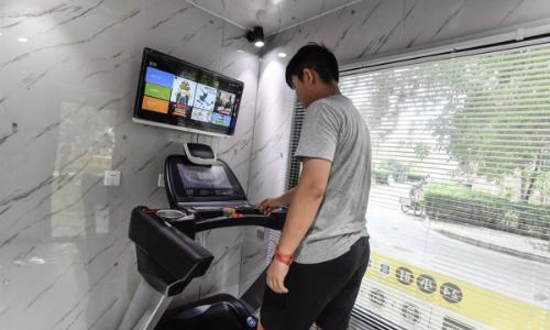 Phòng tập thể dục 'thông minh' giữa phố