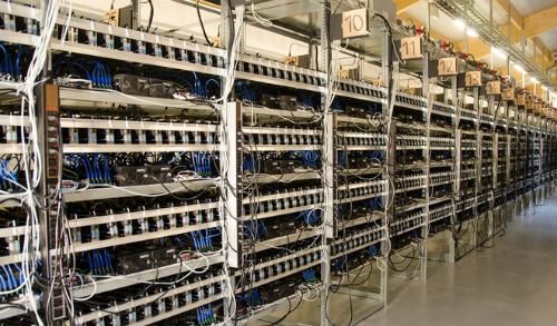 Một góc xưởng đào Bitcoin.
