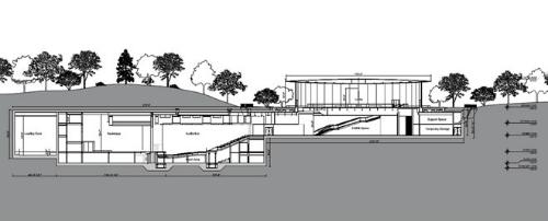 Thiết kế bên dưới lòng đất của Steve Jobs Theater.