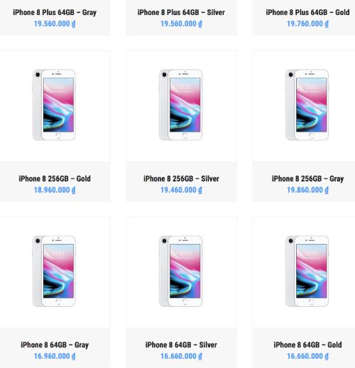 Giá iPhone 8 ở Việt Nam giờ rẻ hơn ở Singapore và Hong Kong, ngang với mua ở Mỹ.