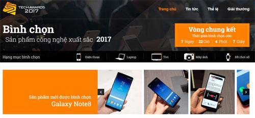 Chuyên trang bình chọn Tech Awards 2017.